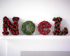 decorative Noel letters
