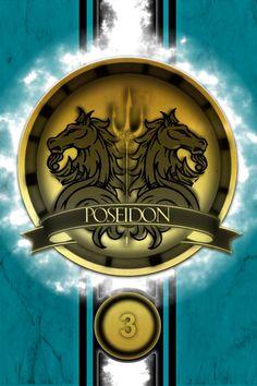 Poseidon Cabin Golden Logo Poster by jimuelmaurer26.deviantart.com on @DeviantArt