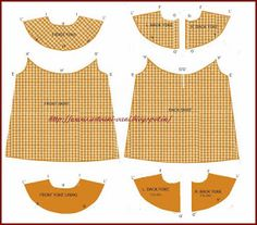Vani's blog 1 : Method of stitching A line frock with round yoke.