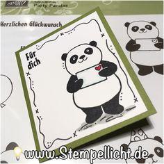 Kleine Grußkarte mit Panda