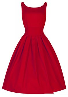 Red vintage Dress...I can visualise....black stilettos, hair pulled up in a vintage hair style, red lipstick and red nails as well, and a very classy black laced evening bag