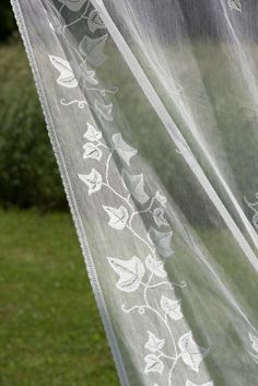 Ivy Trellis Nottingham Lace Curtain and Yardage