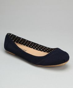 Take a look at this Navy Corduroy Ballet Flat on zulily today!