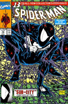 todd mcfarlane symbiote spiderman  This is my favorite Spiderman cover of all time