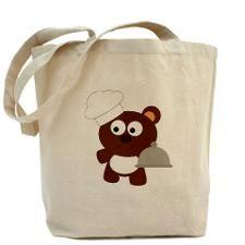Chef Bear Tote Bag