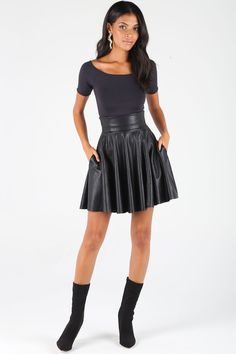 Route 66 Ultra High Waisted Skater Skirt ($89AUD) by BlackMilk Clothing