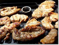 Gizi-receptjei. Várok mindenkit.: Grillezett pácolt csirkemell. Food Hacks, Grilling, Pork, Meat, Kale Stir Fry, Crickets, Pork Chops