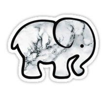 marble elephant Pegatina