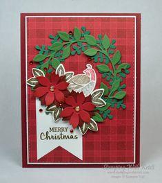 Homemade Christmas Cards, Stampin Up Christmas, Christmas Cards To Make, Christmas Tag, Handmade Christmas, Holiday Cards, Christmas Wreaths, Christmas Crafts, Christmas Ideas