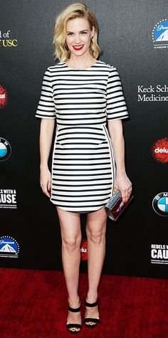 Look of the Day - March 21, 2014 - January Jones in Topshop from #InStyle