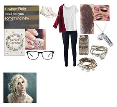 """""""Criminal minds little things #1"""" by crazygirl5683 ❤ liked on Polyvore featuring MM6 Maison Margiela, WithChic, Converse, Casetify, Chronicle Books, Joseph Marc, Chart Metal Works and Lizzy James"""