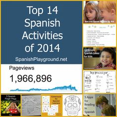 Top 14 Spanish Activities of 2014: A list of the year's most popular Spanish activities on Spanish Playground, including Spanish printables and online Spanish resources. #Spanish for kids #LearningSpanish http://spanishplayground.net/top-spanish-activities-2014/