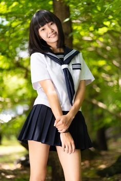 Girls high school skirt uniform to wear every time 07 outafitt com Cute School Uniforms, School Uniform Fashion, Japanese School Uniform, School Girl Outfit, School Uniform Girls, Girl Outfits, High School Girls, School Girl Japan, Japan Girl