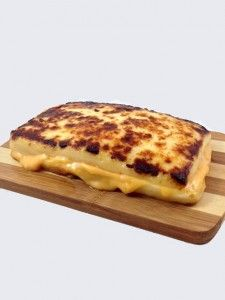 The 100% Cheese Grilled Cheese Sandwich - made with Bread Cheese.  Perfect for low-carb high fat diets such as Atkins/Paleo/Ketogenic.  I'll be trying this immediately and enjoying the delicious weight loss.