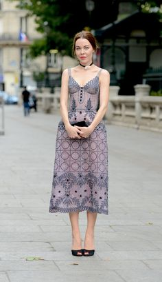 that dress is amazing. Ulyana in Paris. #UlyanaSergeenko