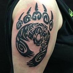 Tribal Bear Tattoo original by KarianaSan on DeviantArt | Tattoos ...
