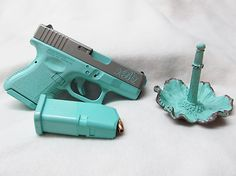 Tiffany Blue & Titanium w Monogram, but on a Glock 22 Gen4......think I'm in love!!!