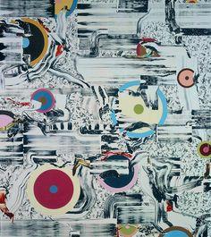 Fiona Rae - Untitled (Sky Shout)