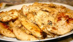 Crockpot Lemon Chicken ~ Put cube of butter in bottom of crock pot.  Lay chicken in pot.  Sprinkle Italian dressing packet over chicken, drizzle with lemon juice, and pop the lid on.  Cook on high 4-5 hours or low 6-8 hours.