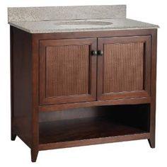 "Check out the Foremost SANA3621 Saludar 36"" Walnut Bathroom Vanity priced at $842.27 at Homeclick.com."