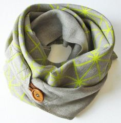 Lighten up with the perfect transitional accessory for spring: The R&L Goods Linen Button Scarf hand sewn in Seattle.