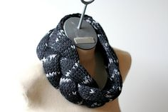 Ready to Ship Black Charcoal and Silver Grey Hand by AmyLaRoux