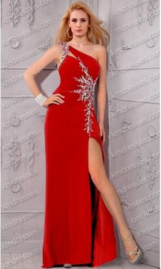 Fantastic classy beaded high slit strap open back one shoulder dress.prom dresses,formal dresses,ball gown,homecoming dresses,party dress,evening dresses,sequin dresses,cocktail dresses,graduation dresses,formal gowns,prom gown,evening gown.