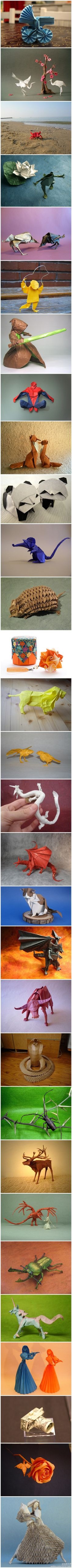 These remind me of the paper sculptures I had on my desk last year! Maybe I should make some more