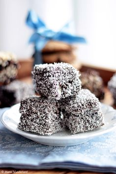 Mmmmm! Lamingtons!  My first seminary teacher served a mission in Australia and she made these for us.  I still remember them!