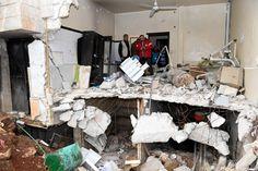 Das Krankenhaus im Stadtteil Sachur ist durch Luftangriffe zerstört worden. Nun...