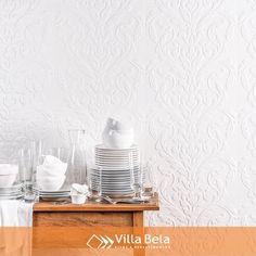 O branco com o alto relevo da cerâmica Velvet @decortiles. Lindo e sofisticado…