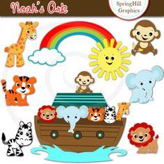 Noah's Ark Digital Clip Art