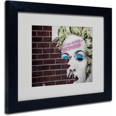 Trademark Fine Art Madonna Pop by Yale Gurney, Black Frame, Size: 11 x 14, Multicolor