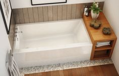 Free-standing bathtub / rectangular RUBIX 6030/6032 MAAX bathroom
