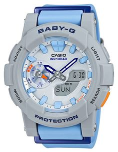 From BABY-G, this dynamic womens' sport watch boasts many features that are ideal for the female runner, such as stopwatch timing in timekeeping mode, easy to view hour and minute hand colors, and mor