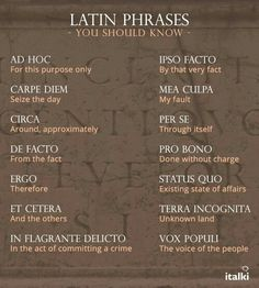 * Latin