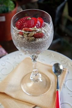 Fat and Happy Blog: Coconut Chia Seed Pudding with Nuts and Berries