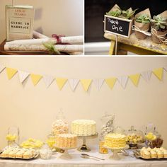 Yellow dessert bar (photo by Tealily Photography)