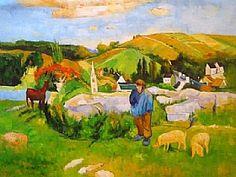 Le gardien de porcs, Paul Gauguin - GRANDS PEINTRES / Gauguin