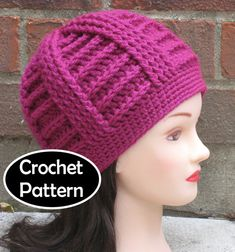 CROCHET HAT PATTERN Instant Download - Bailey Textured Beanie Hat Easy Womens Mens Unisex - Permission to Sell