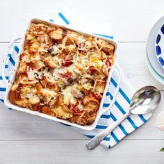The Best Breakfast Casserole You Can Make Without a Recipe - a formula and the proportions to make any kind of strata. good for breakfast or any meal, can be frugal. milk, eggs, cheese, bread, and add whatever options desired, like veggies, protein. keep, remember, want. lj