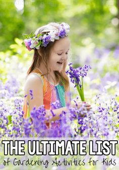 Create the ultimate gardening themed unit study for your kids with this awesome list of activities! List Of Activities, Preschool Activities, Fun Crafts For Kids, Projects For Kids, Starter Garden, Little Gardens, Garden Ornaments, Kid Friendly Meals, Garden Projects