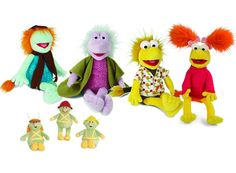 Fraggle Rock plush toys! Available from Where Did You Get That?