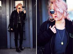 pink hair and grunge