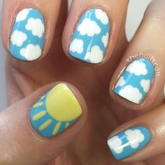 Simple Nail Art Designs That You Can Do Yourself – Your Beautiful Nails Simple Nail Art Designs, Best Nail Art Designs, Toe Nail Designs, Nail Designs For Kids, Cute Nail Art, Nail Art Diy, Easy Nail Art, Sun Nails, Nail Art For Kids