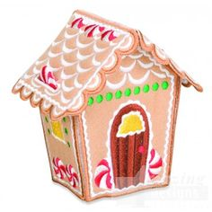 Gingerbread House 2 Embroidery Design