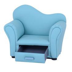 Sofa Mart Curved Back Kids Drawer Sofa Storage Chair Children Furniture SF