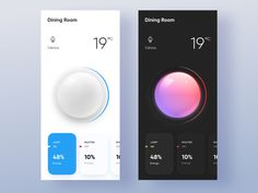 Lighting Dimmer by John Khester on Dribbble Web Design, App Ui Design, Interface Design, User Interface, Light App, Car Ui, App Design Inspiration, Mobile Ui Design, Android