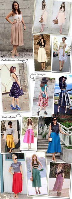 Como usar: Saias e Vestidos Midi