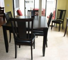 Astounding Black Dining Table Set For Sale